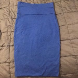 Nordstrom Blue fitted pencil skirt.
